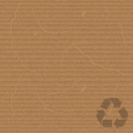 sheet of cardboard with recycling sign Vector