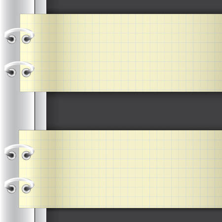 folder with white sheets of paper mount