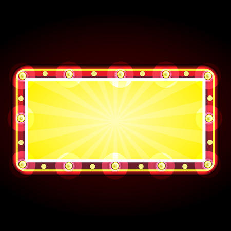 neon sign advertising announcement Stock Vector - 25867448