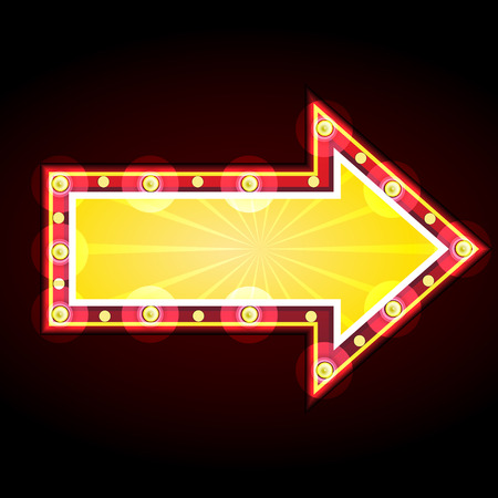 neon sign advertising announcement Vector