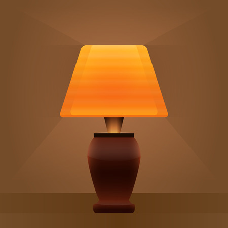 table lamp light brown background Vector