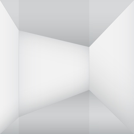empty white room corner Vector