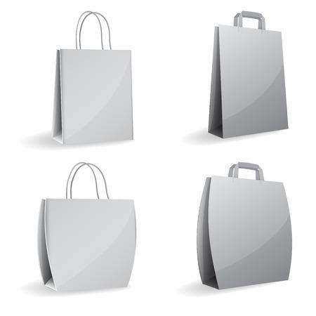 gray empty paper bags Illustration