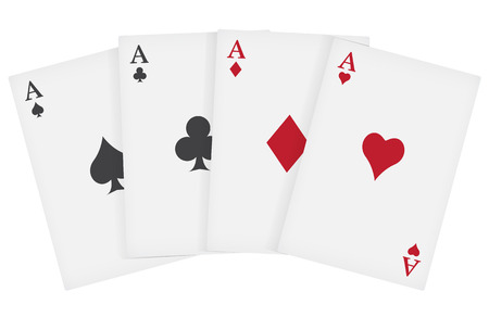 aces playing cards suits Stock Vector - 25929103