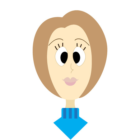 nature of women faces brown hair Vector