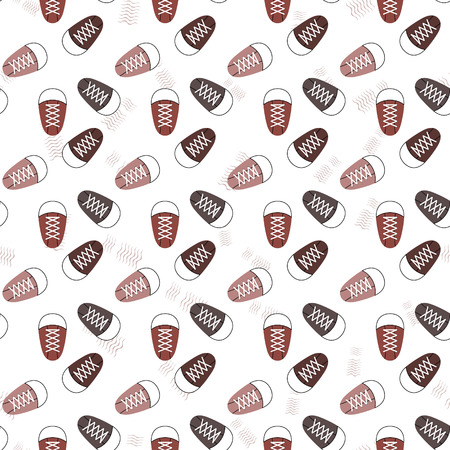 pattern seamless sneakers paper Vector