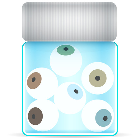 eye glass jar Vector