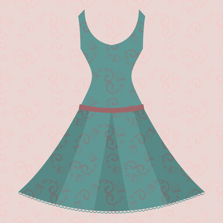 dress on  background Vector