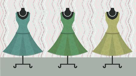 set dress on  background Vector