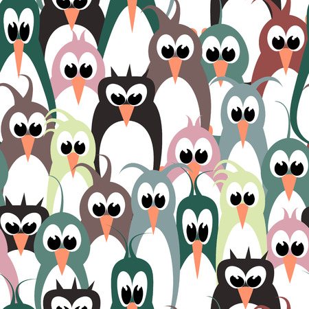 bird wallpaper seamless pattern Vector