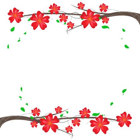 branch ornament background Vector