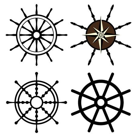 rudders set Illustration