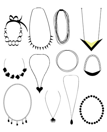 Necklaces set Vector