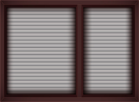 brown window with opened blinds Stock Vector - 28904307