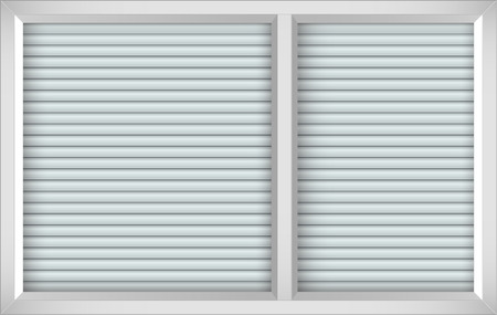blinds: White window with opened blinds