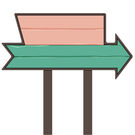 Wooden Sign-board Vector
