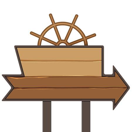 roer: houten bord met helm