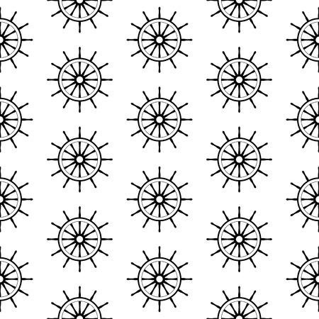 seamless pattern with steering wheels