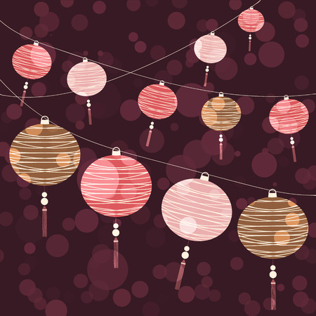 Chinese Lantern Background Vector