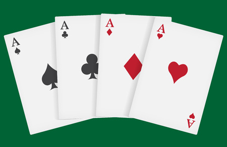 aces playing cards suits Illustration