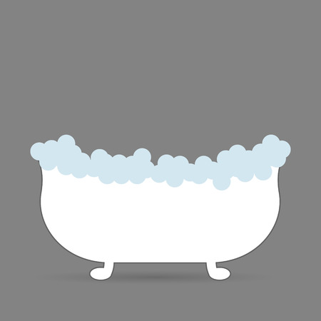 steam bath: bath with foam Illustration