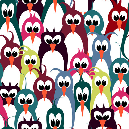 bird wallpaper seamless pattern Illustration