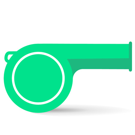 lime whistle on a white background Illustration