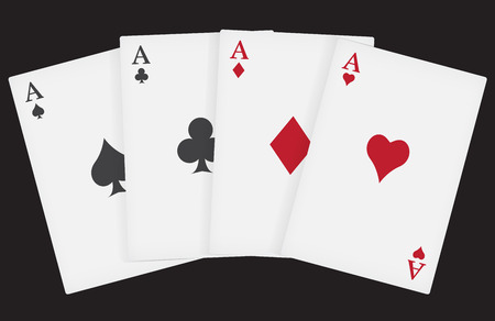 aces: aces playing cards suits Illustration