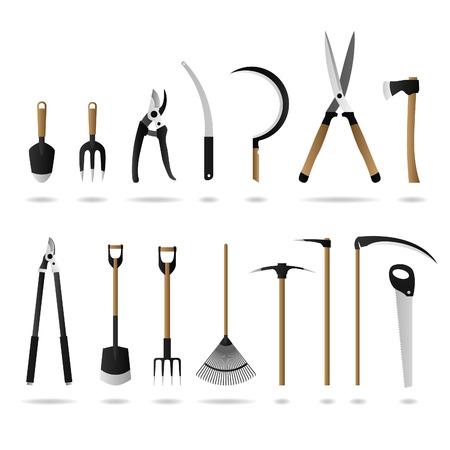 scythe: Conjunto de herramientas de jardiner�a  Vectores