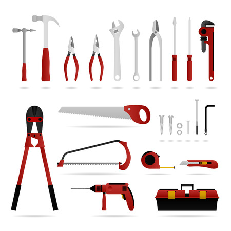 screwdrivers: Hardware Set Tool  Illustration