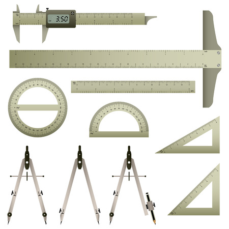 Set of Measurement Tool Stock Vector - 7109780
