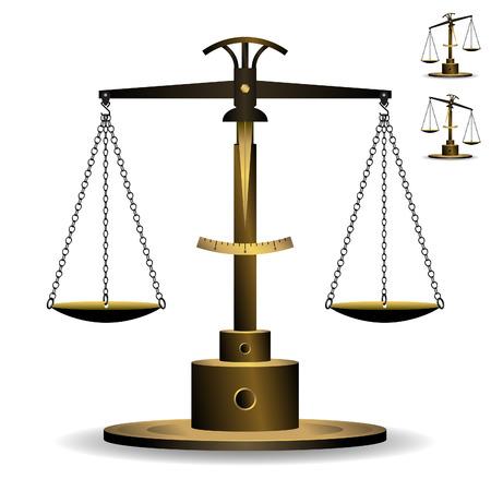 ungleichgewicht: Umfang der Gerechtigkeit-Vektor Illustration