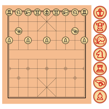 schachspiel: Chinese Chess-Vector