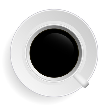 coffee cup isolated: Black Tea Coffee Vector Illustration