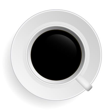vista desde arriba: T� vector caf�  Vectores