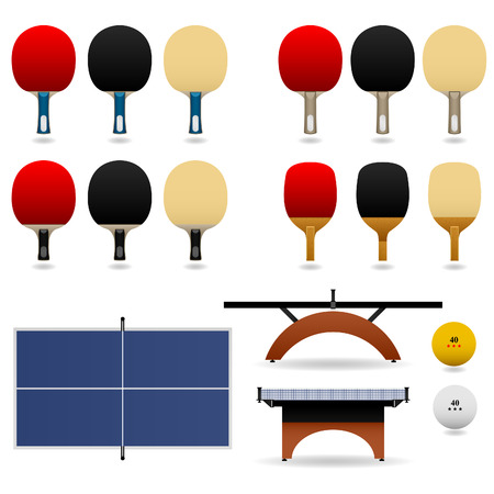 Table Tennis Set Stock Vector - 7113345