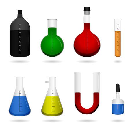 material de vidrio: Vector de herramientas de Ciencias Qu�micas