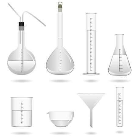 material de vidrio: Vector de herramientas de ciencias qu�micas Vectores