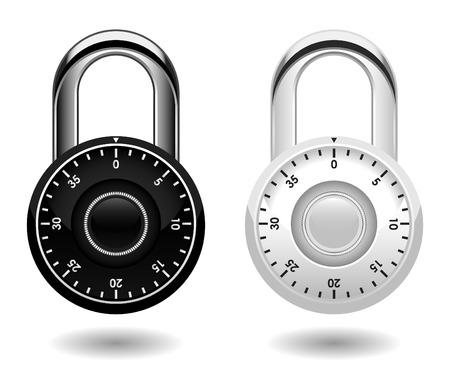 guard duty: Vector de bloqueo de seguridad combinada Pad Vectores