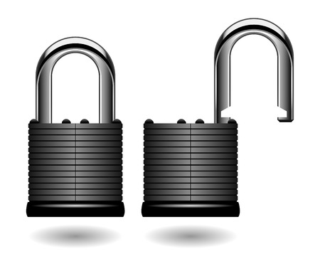 Security Pad Lock Vector Stock Vector - 7113340