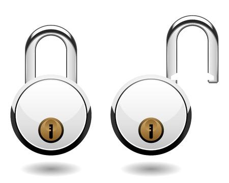 Security Pad Lock Vector Stock Vector - 7113341