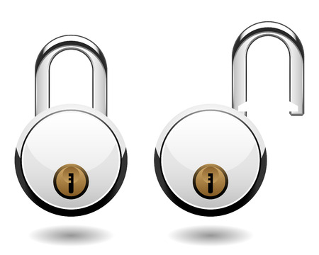 safe lock: Security Pad Lock Vector