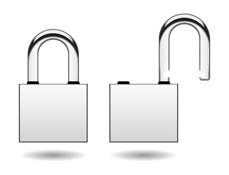 Security Pad Lock Vector Stock Vector - 7113337