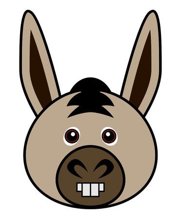 cartoon donkey: Cute Donkey