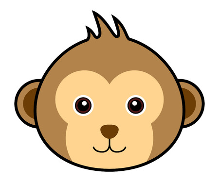 cute cartoon monkey: Cute Monkey