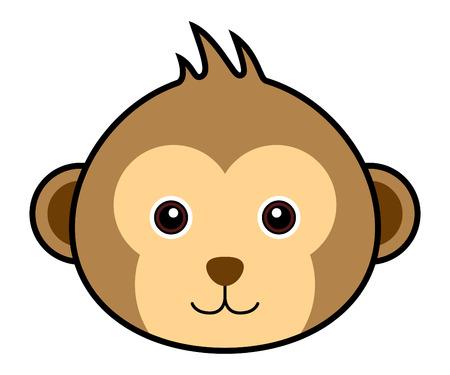singes: Monkey Mignon Illustration