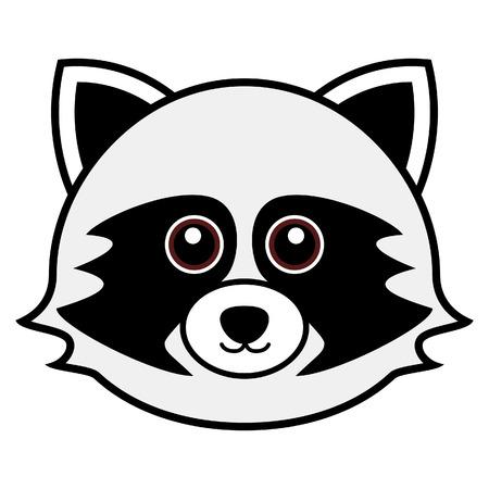 cartoon raccoon: Cute Raccoon