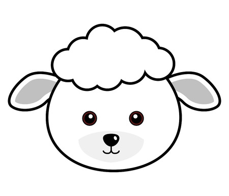 smiling goat: Cute Sheep Illustration