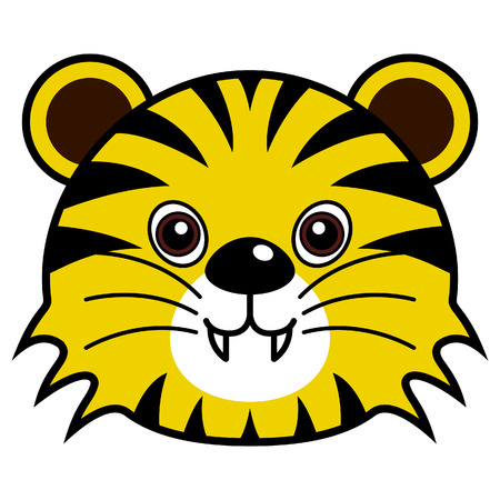isolated tiger: Tiger carino