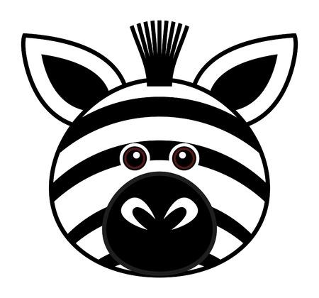 zebra stripes: Cute Zebra  Illustration